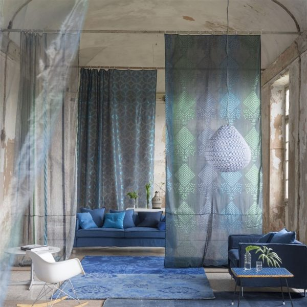 Mittsuami Turquoise Fabric by Designers Guild