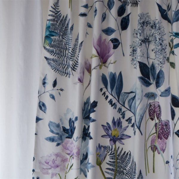 Mokuren Indigo Fabric by Designers Guild