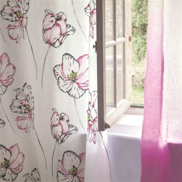Montsuki Fuchsia Fabric by Designers Guild