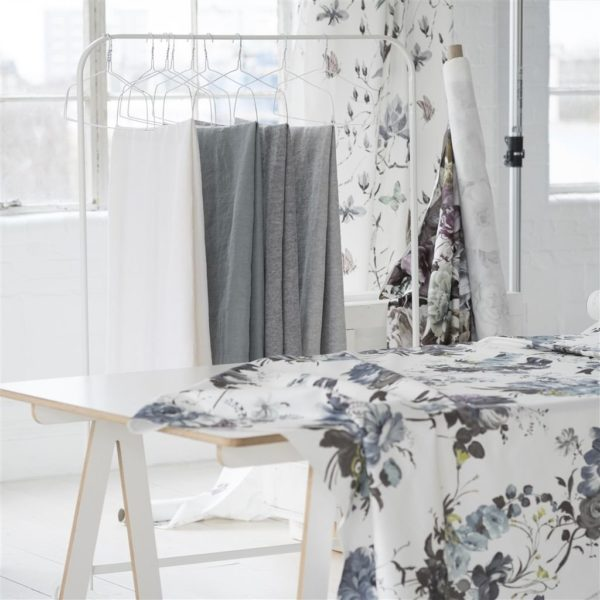 Brera Lino Noir Fabric by Designers Guild