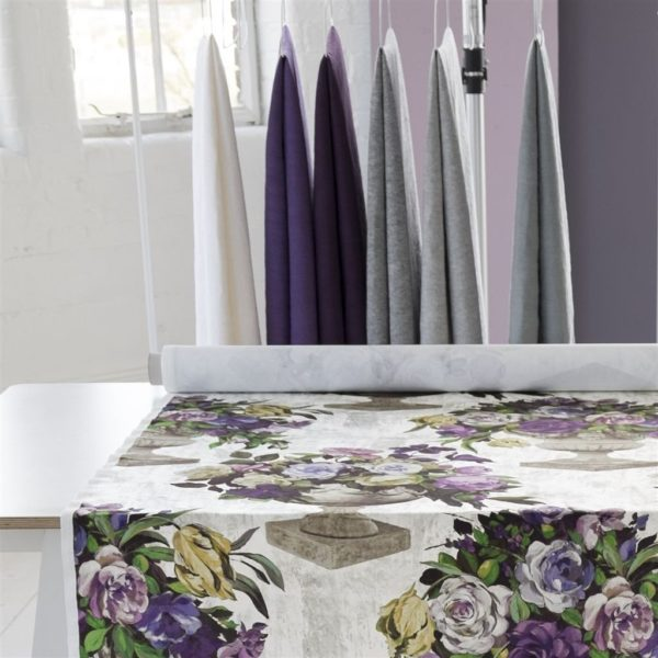 Brera Lino Graphite Fabric by Designers Guild