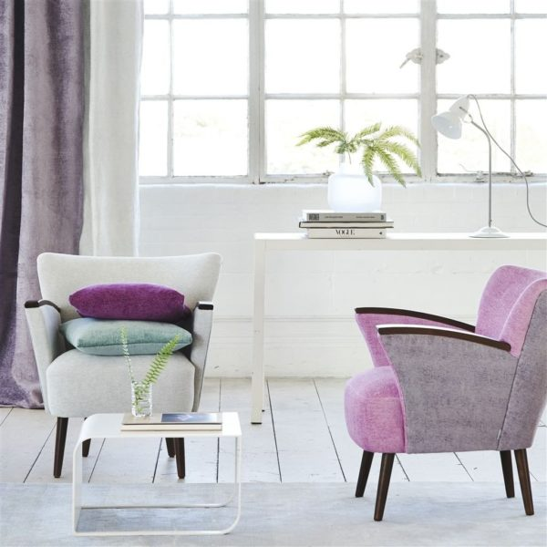 Riveau Ice Fabric by Designers Guild