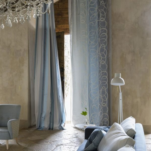 Marquisette Delft Fabric by Designers Guild