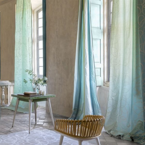 Tuileries Damask Delft Fabric by Designers Guild