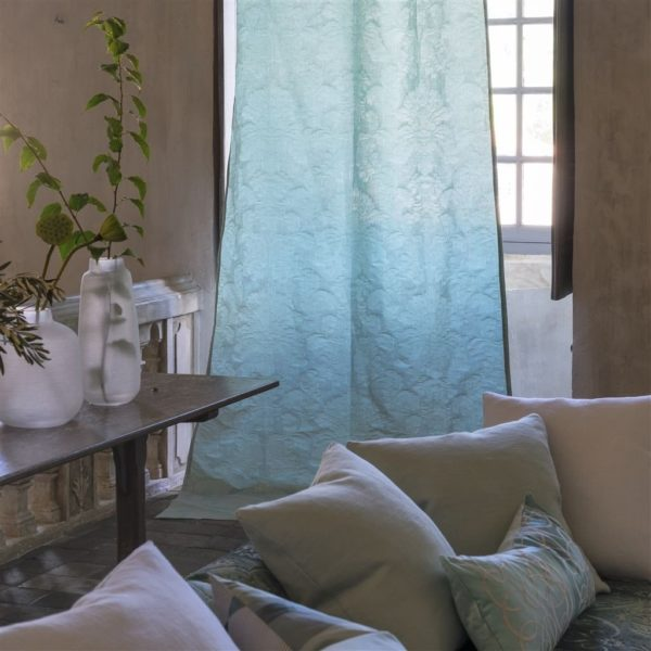 Tuileries Damask Celadon Fabric by Designers Guild