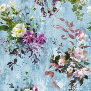 Aubriet Slate Blue Fabric by Designers Guild