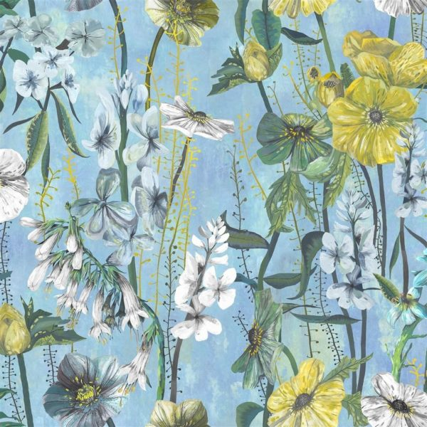 Masson Azure Fabric by Designers Guild