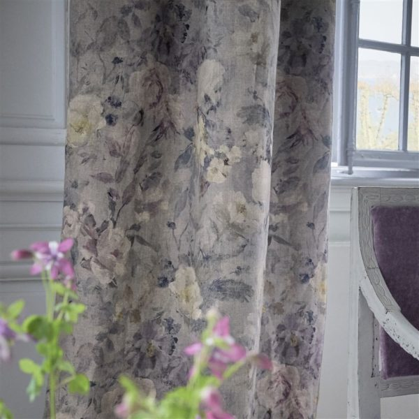 Marianne Lino Slate Fabric by Designers Guild