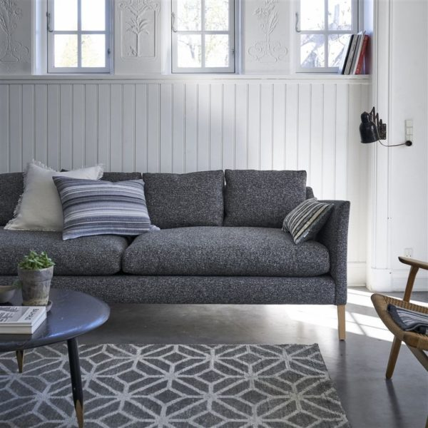 Brecon Charcoal Fabric by Designers Guild