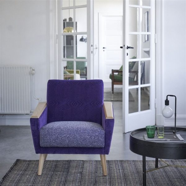 Roxburgh Violet Fabric by Designers Guild