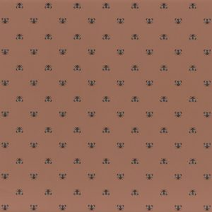 A closer look at the small bees design on the Apris wallpaper by Casamance is the colour Terracota | Decor Rooms