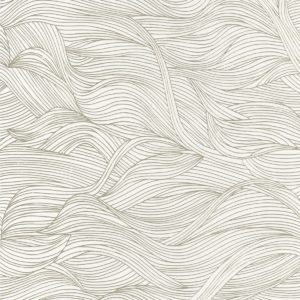 The Alula wallpaper by Casamance in the colour Snow | Decor Rooms