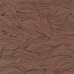 The Alula wallpaper by Casamance in the colour Terracota | Decor Rooms