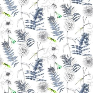 Acanthus Indigo Fabric by Designers Guild