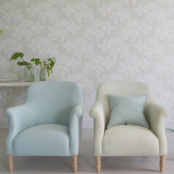Brera Lino Mink Fabric by Designers Guild