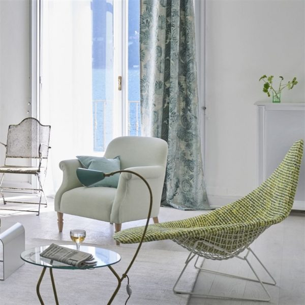 Zanfirico Duck Egg Fabric by Designers Guild