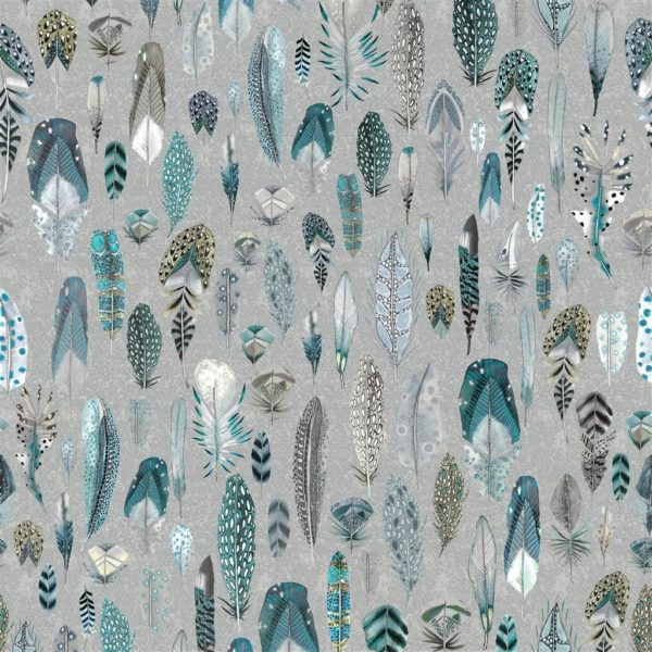 Quill Duck Egg Fabric by Designers Guild