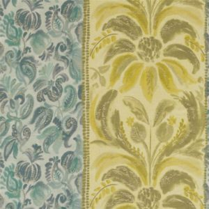 Angelique Damask Fabric Jade Fabric by Designers Guild