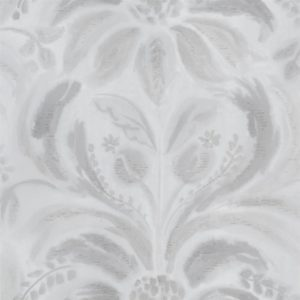 Angelique Damask Steel Wallpaper by Designers Guild
