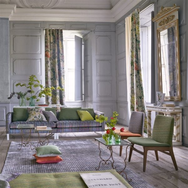 Makrana Zinc Fabric by Designers Guild