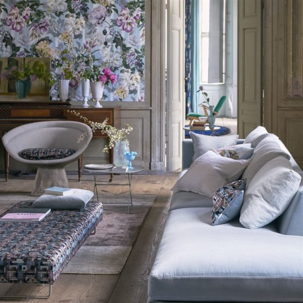 Marquina Delft Fabric by Designers Guild