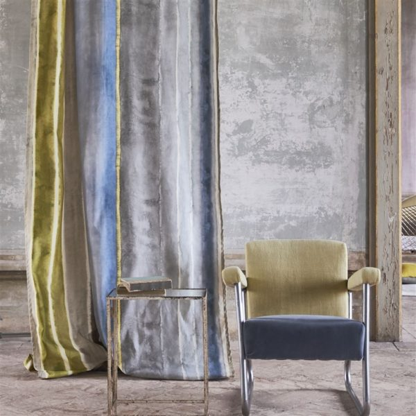 Vallauris Slate Fabric Fabric by Designers Guild