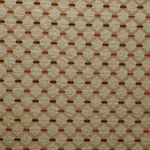 Agra Cranberry Fabric by Jim Dickens