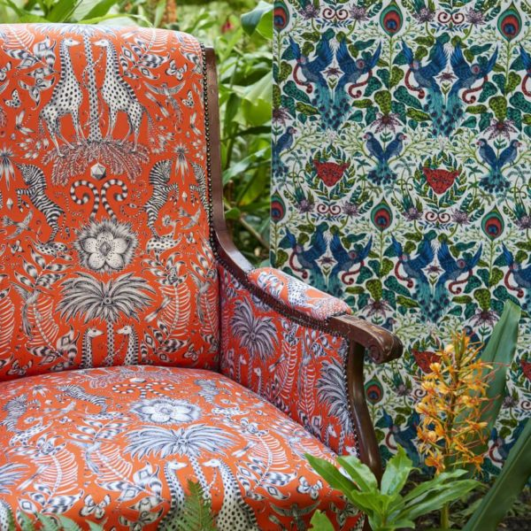 Kruger Flame Fabric by Clarke & Clarke