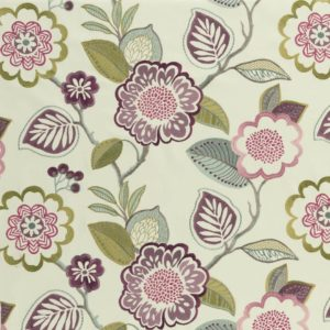 Beaulieu Cassis Fabric by Clarke & Clarke