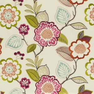 Beaulieu Summer Fabric by Clarke & Clarke