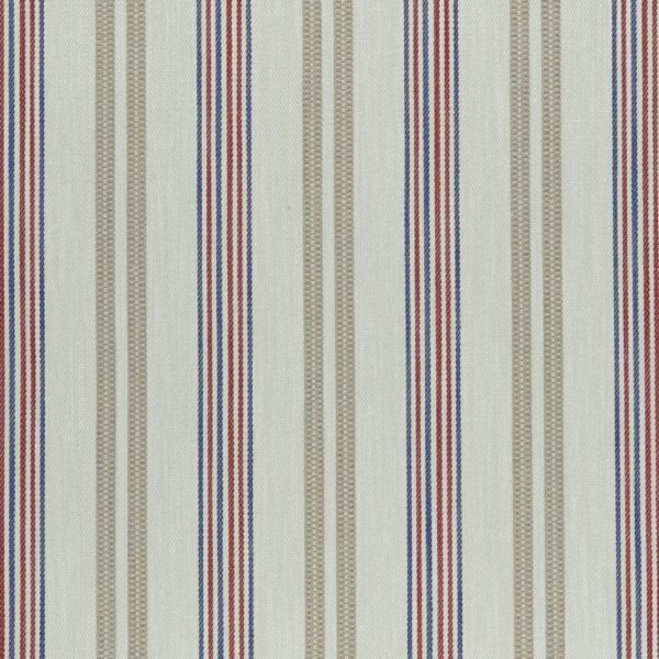 Grenada Taupe/Rouge Fabric by Clarke & Clarke
