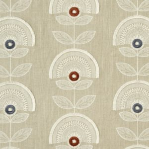 Calista Spice/Natural Fabric by Clarke & Clarke