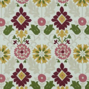 Augustina Raspberry/Apple Fabric by Clarke & Clarke