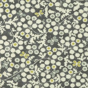 Berwick Trail Charcoal/Chartreuse Fabric by Clarke & Clarke