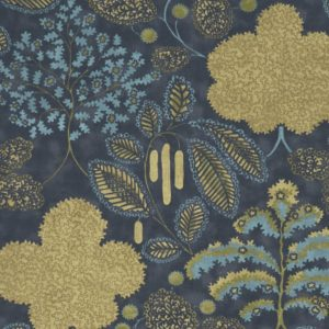 Bloomsbury Antique/Midnight Fabric by Clarke & Clarke