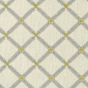 Cressida Charcoal/Chartreuse Fabric by Clarke & Clarke
