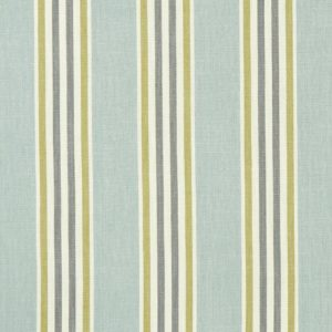Quentin Mineral/Citron Fabric by Clarke & Clarke