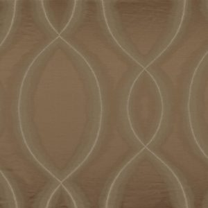 Chisame Marron Glace Fabric by Casamance