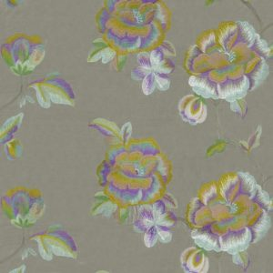 Haru Gris/Anis Fabric by Casamance