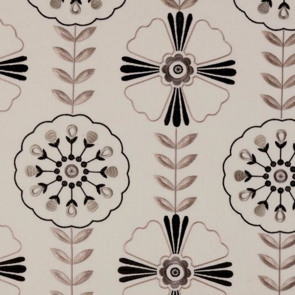 Mandana Ebony Fabric by Clarke & Clarke