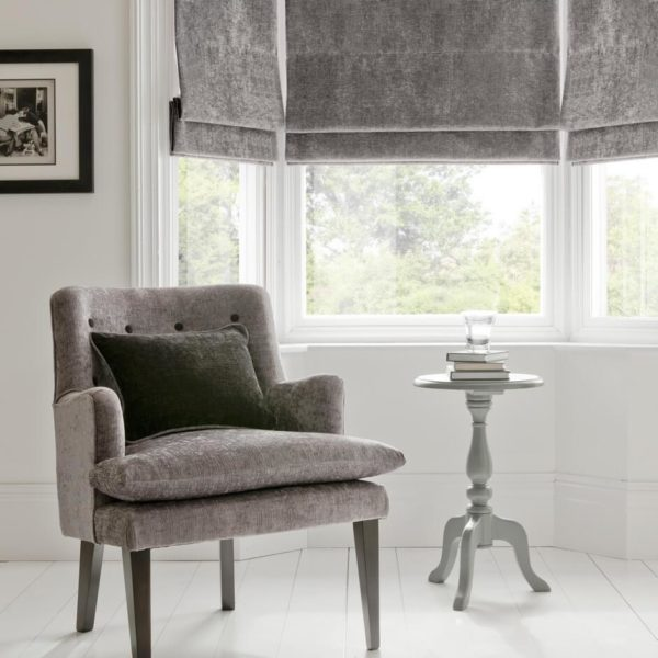 Karina Grey Fabric by Clarke & Clarke