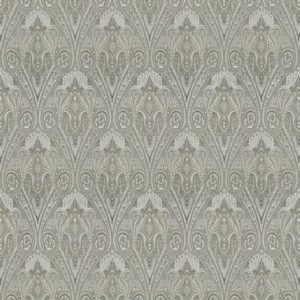 Empress Silver Fabric by Jim Dickens