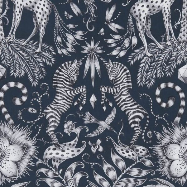 Kruger Navy Fabric by Clarke & Clarke