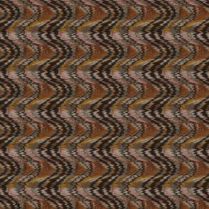Flame Stitch Autumn Fabric by Jim Dickens