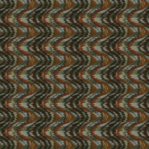 Flame Stitch Burnt Earth Fabric by Jim Dickens