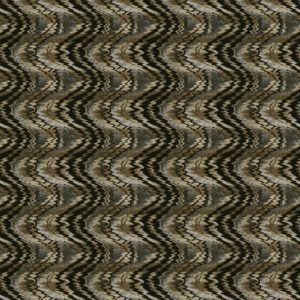 Flame Stitch Pewter Fabric by Jim Dickens