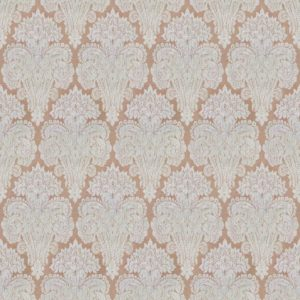 Harewood Alabaster Rose Fabric by Jim Dickens