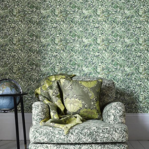 Wallace Secret Garden Green Gauze Fabric by Liberty