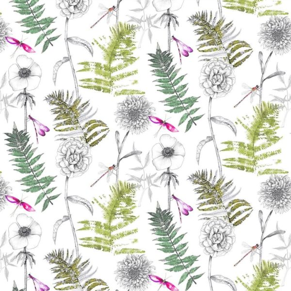 Acanthus - Moss Fabric by Designers Guild (FDG2692/01)