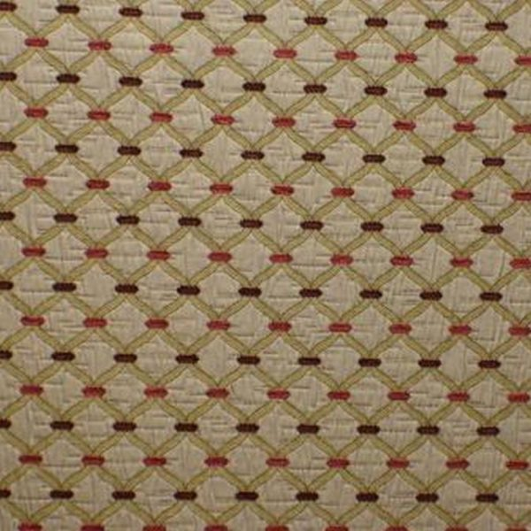 Agra - Cranberry Fabric by Jim Dickens (Agra-Cranberry)